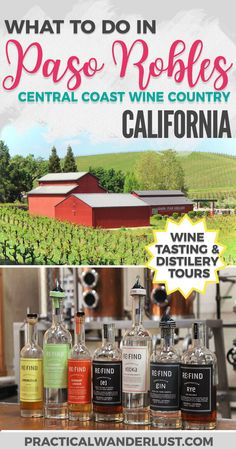 California's Central Coast wine country travel destination! Wineries, distilleries, craft breweries, and more in Paso Robles, Californi.! One of the best United States travel destinations for booze tourism. Plus: where to eat, where to stay, and where to get coffee.