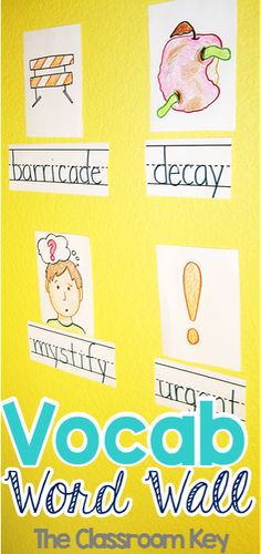 How to implement a vocabulary word wall in your classroom, appropriate for older elementary students