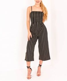 512d5db613 Louise black gold stripped culotte jumpsuit Diva Trend UK size 12  fashion   clothing