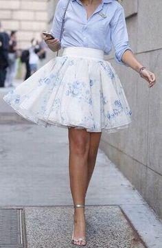 Pastel Floral Tulle Skirt