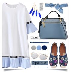"""""""Step into Summer: Espadrilles, Romwe!"""" by samra-bv ❤ liked on Polyvore featuring WithChic, NYX, Burberry and Colette Malouf"""