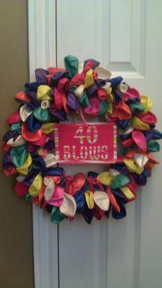 40 Blows Balloon Birthday Wreath - Paula you can borrow my balloon wreath