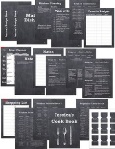 Keep your recipes organized with this chalkboard printable recipe binder kit. Included is 18 editable pages that have everything you need. Organization is something I take seriously, therefore almost this entire kit can be edited by you to fit your needs. It even includes editable page numbers! Each page is formatted to 8.5x11 inches and will fit into a standard 3 ring notebook. The chalkboard design will fit into any kitchen and would make a great cookbook for anyone.  32 Pages included…