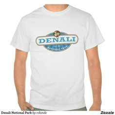 Denali National Park T-shirts - Denali National Park is located in Interior Alaska and contains Mount McKinley, the highest mountain in North America. Denali is serviced by a single road leading to Wonder Lake. Shop for more National Park Gifts at - http://www.zazzle.com/cdandc #national #park #nationalparkgifts #Denali # #McKinley #mountmckinley #vacation #alaska #usa #souvenir #gift #shirt #tee #nationalpark