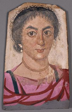 Mummy Portrait of a Woman (Getty Museum); tempera on wood. Romano-Egyptian, Egypt, about A.D. 170 - 200