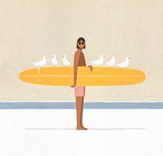 Art And Illustration, Graphic Design Illustration, Henri Matisse, Pablo Picasso, Surf Art, Grafik Design, Painting & Drawing, Surf Drawing, Art Inspo