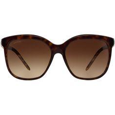 Bvlgari Sun Bv8155 57 Brown Square Sunglasses (4 965 ZAR) ❤ liked on Polyvore