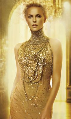 Would love to wrap model in lots of gold necklaces. Male and female models