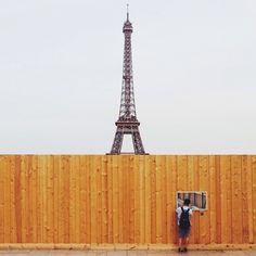 - Eiffel Tower viewing windowPhotograph by Quinn...
