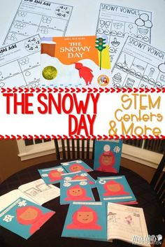Snow lesson plans for kindergarten. Books, videos, reading lessons, math activities, and more! Fun crafts and center resources are also included. Your students will love learning about snow.