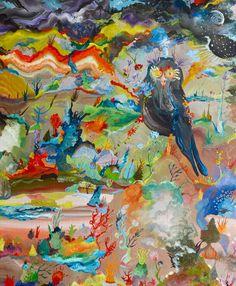 Barcelo Marcella   Le Nocturne rayonnement     2012 54 x 65 cm   Óleo sobre lienzo