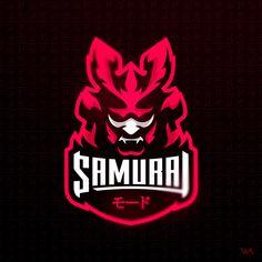 Mascot Logo Design for Samurai Mode Ninja Logo, Samurai Artwork, Sports Team Logos, Game Logo Design, Esports Logo, Mascot Design, Professional Logo Design, How To Make Logo, Retro Logos