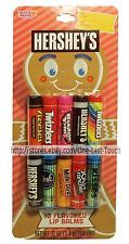 LOTTA LUV 10pc Lip Balm Set TWIZZLERS+KISSES+HERSHEY'S Gingerbread Man HOLIDAY