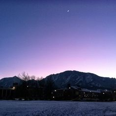 Thanks Boulder**✌ #boulder #sunset #colorado #cresentmoon #cu #word by @nicole_mcnulty on 2013-01-15