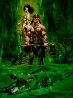 Sanjulian | Conan and crocodile