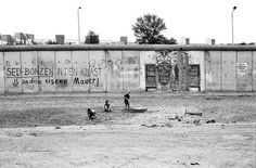 Children playing by the Berlin Wall 1990