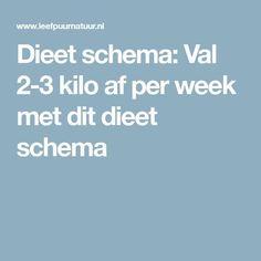 Dieet schema: Val 2-3 kilo af per week met dit dieet schema
