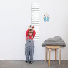 Kinderzimmerdekoration - Messlatte SNUG.GROW - ein Designerstück von snug-studio bei DaWanda