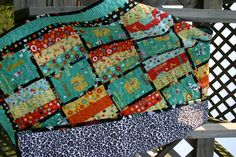 Baby quilt with a minky fabric.