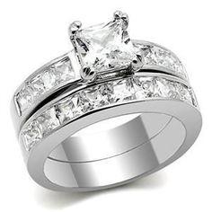 6.13 Carats Diamond Wedding Ring Set