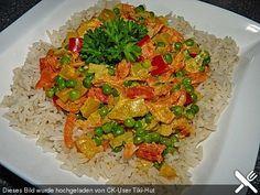 Reis - Gemüse - Pfanne mit Frischkäse, ein schönes Rezept aus der Kategorie Hauptspeise. Bewertungen: 49. Durchschnitt: Ø 4,1.