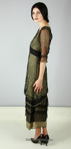 This one is a different version of original Titanic dress made up of multiple layers _ wardrobe shop