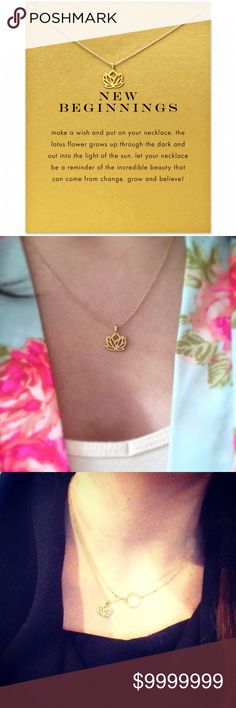 COMING SOON Lotus Flower Pendant Delicate Necklace COMING SOON LIKE FOR ARRIVAL NOTIFICATION  Lotus Flower Pendant Delicate Necklace 16 inches and 2 inch extender golden threads Jewelry Necklaces
