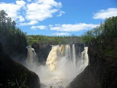 High Falls on the Pigeon River in Grand Portage State Park on the US-Canadian border.