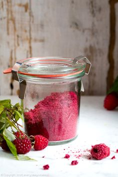 puder malinowy, raspberry powder #maliny #raspberry