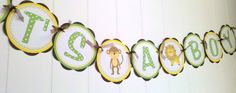 ITS A BOY Baby Shower Banner  Animal Theme by getthepartystarted, $23.50