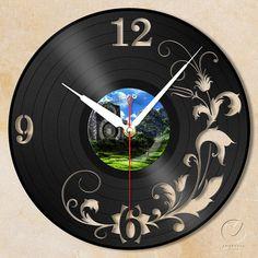 vinyl wall clock flower no.2 by Anantalo on Etsy, ฿1100.00