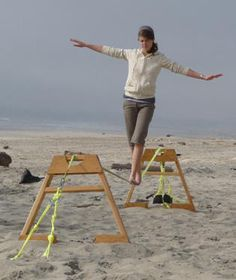 How to slackline without trees.