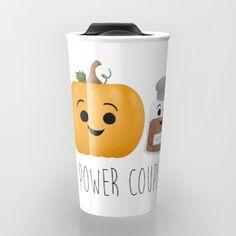 Pumpkin + Spice = Power Couple Travel Mug by A Little Leafy