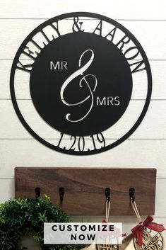 Whether you're a newlywed or you're celebrating your 50th...this sign is for you! This design is fresh and the metal will last for years to come!