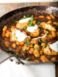 Kuřecí prsa se žlutou kari pastou a fazolkami Naan, Chana Masala, Curry, Ethnic Recipes, Turmeric, Curries