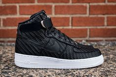 "Nike Air Force 1 High LV8 Woven ""Black/White"""