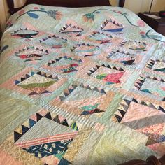 https://flic.kr/p/w6FwbK | This quilt made it to my bed....finally. Love all those scraps! #lovelaughquilt