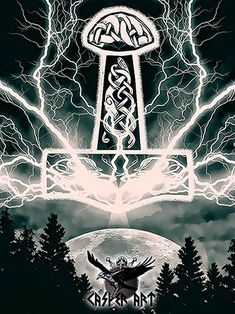 Thors Hammer by thecasperart on DeviantArt – Norse Mythology-Vikings-Tattoo Viking Life, Viking Art, Viking Warrior, Thors Hammer, Thor Hammer Tattoo, North Mythology, Viking Wallpaper, Viking Pictures, Norse Symbols