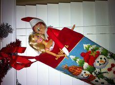 snuggling elf
