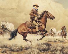 John Wayne Painting Under Attack By Frank McCarthy