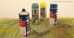 Como pintar sillas de plástico con pintura en spray y lija
