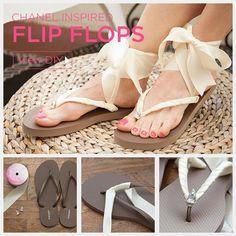 Chanel Inspired Flip Flops