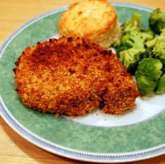 Crunchy Baked Pork Chops - make extra crunchy topping to freeze for later, quick to prep meals utilizing fish or chicken as well as pork