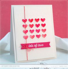 Stitched Heart Grid Die-namics, Stitched Sentiment Strips Die-namics, Blueprints 24 Die-namics, Love Is in the Mail Stamp Set - Debbie Olson  #mftstamps