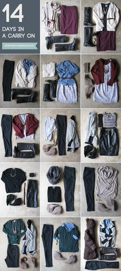 Winter Packing: 14 days in a carry-on.  One of my favorite posts on packing for winter that I've read so far.