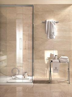 Symphony Collection: marble effect stoneware tiles Spider toilet design … – Wanderlust Travertine Bathroom, Bathroom Interior, Beige Marble Bathroom, Bathroom Decor, Small Bathroom Remodel, Bathroom Remodel Shower, Bathroom Makeover, Bathroom Interior Design, Toilet Design