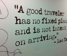 Never arrive at a final destination.