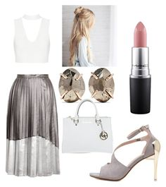 """""""Untitled #26"""" by frid1445 on Polyvore featuring Topshop, Melissa Joy Manning, Michael Kors and MAC Cosmetics"""