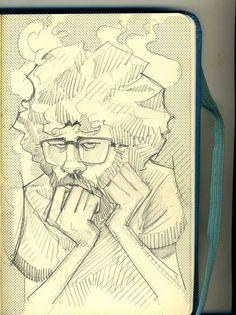Sketchbook by juan cavia, via Behance