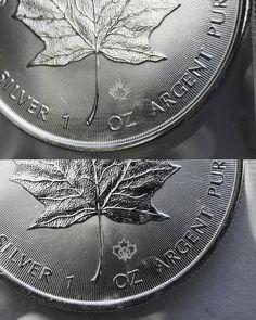 2014 - Canada Maple Leaf Silver 1 oz. - BU-closeup - kmscoin.com
